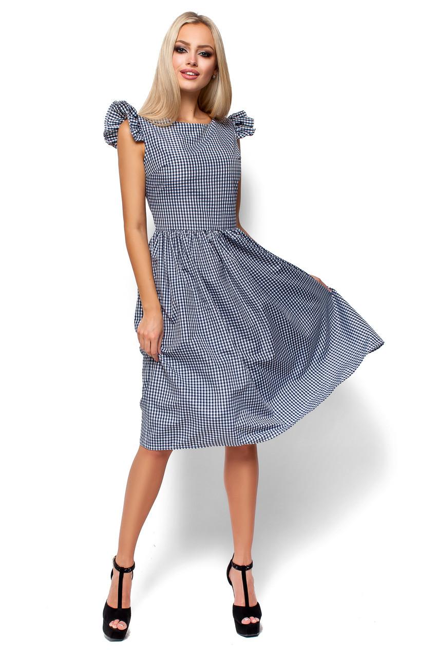 Женское летнее платье миди Karree Регина черная клетка