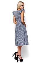 Женское летнее платье миди Karree Регина черная клетка, фото 2