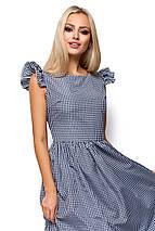 Женское летнее платье миди Karree Регина черная клетка, фото 3
