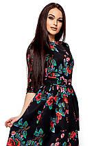 Женское платье Karree Сакура, черный, фото 3