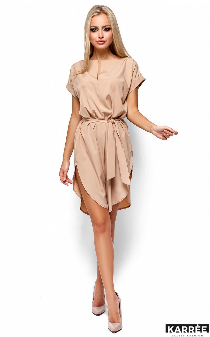 Платье свободного кроя Karree Тринити бежевое