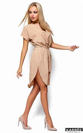Платье свободного кроя Karree Тринити бежевое, фото 2