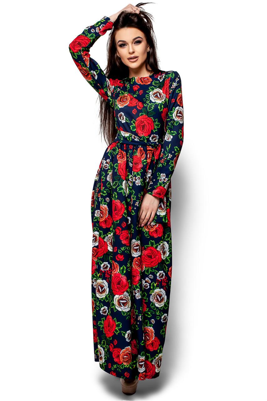 Женское платье Karree Техас, темно-синий