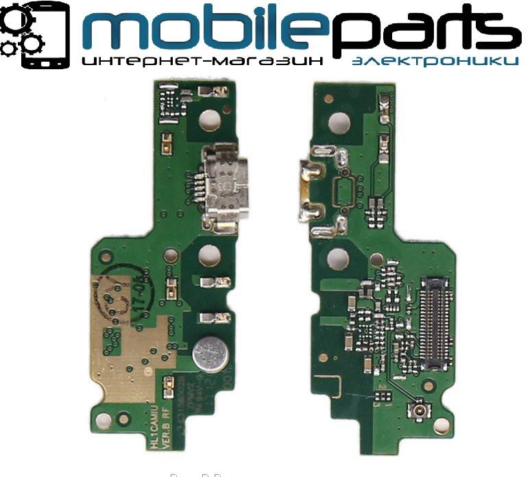 Нижняя плата (Шлейф) для Huawei Y6 II з зарядным разъемом