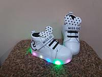Ботинки деми- 23р-14.5 см 24р-15.0 см  светятся