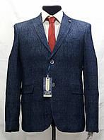 Мужской пиджак в клетку больших размеров Victor Enzo 7083