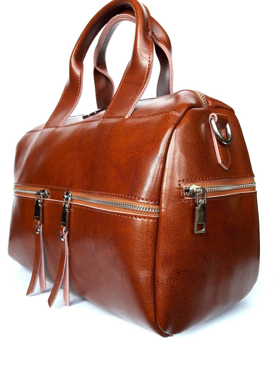 c6e9f6878247 Женская кожаная сумка-саквояж