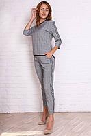Модный женский брючный костюм с лампасами, фото 1