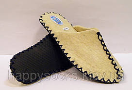 Женские войлочные тапочки из 100% шерсти с темно-синим шнурком
