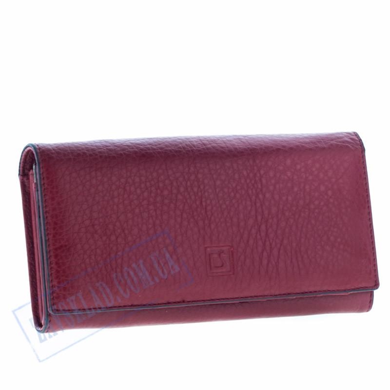 Женский кошелек Cossroll кожаный красный