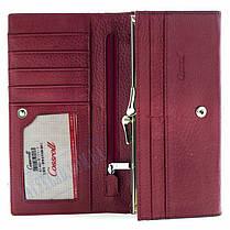 Женский кошелек Cossroll кожаный красный, фото 3