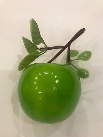 Искусственное яблоко.Муляж зелёного яблока., фото 2