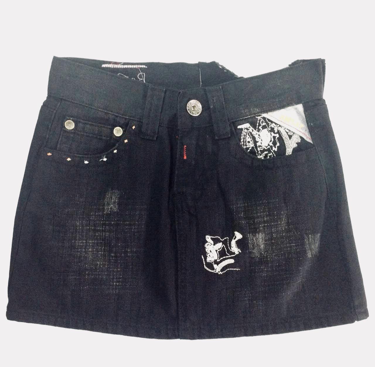 Юбка Replay джинсовая мини с вышивкой