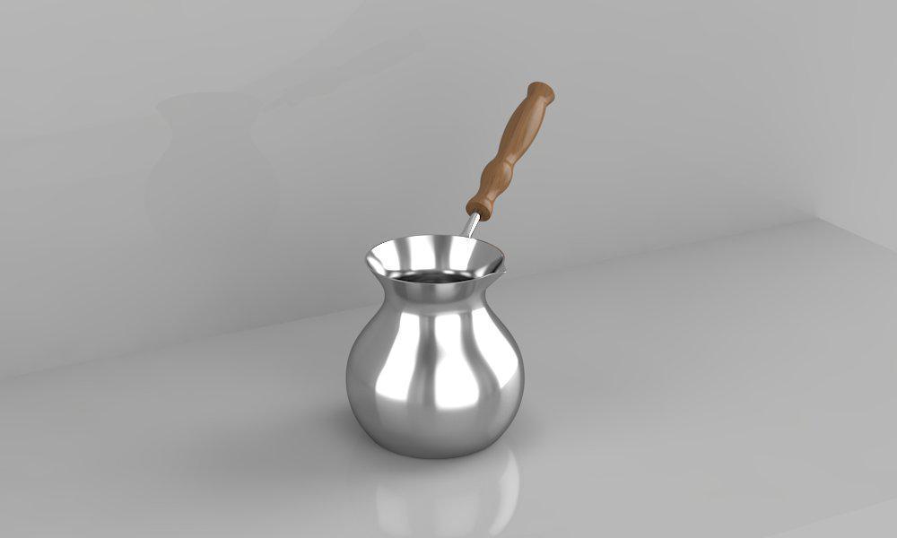Джезва-Турка ZH Покрыта серебром внутри и снаружи, 450 мл