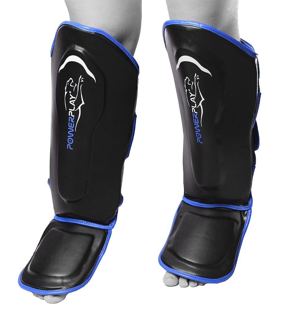 Захист гомілки і стопи PowerPlay 3052 Чорно-Синій S