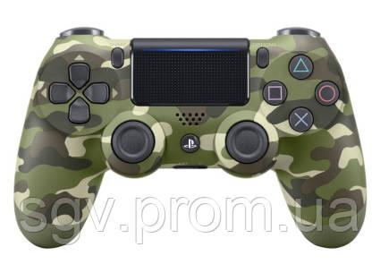 Беспроводной геймпад PlayStation Dualshock V2 Bluetooth PS4 Green Camouflage