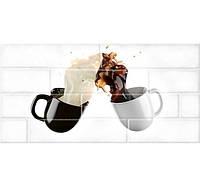 Керамическая плитка Брик Белый Декор №1 30х60 см