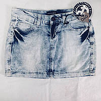 Юбка  джинсовая мини голубая, фото 1