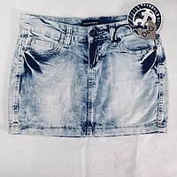 Юбка в стиле Dolce&Gabbana джинсовая мини голубая, фото 1