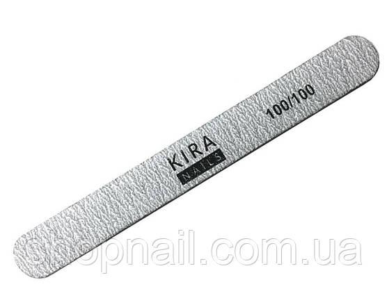 Пилка для ногтей Kira Nails, прямая 180/180, стандарт, фото 2
