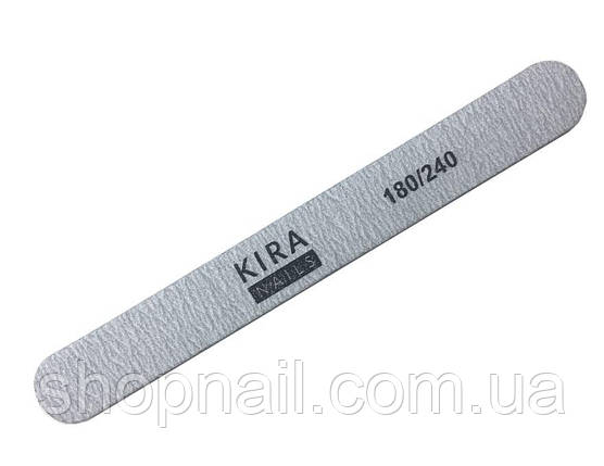 Пилка для ногтей Kira Nails, прямая 180/240, стандарт, фото 2