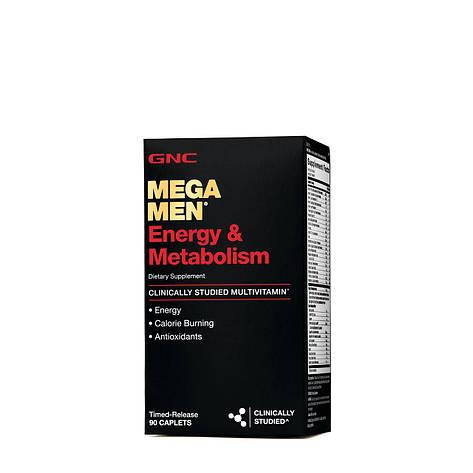 GNC Mega Men Energy & Metabolism 90 caplets, фото 2