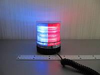 Проблесковый маячок спецсигнал LED1-18  красно- синий , светодиодный на магните 12В., фото 1