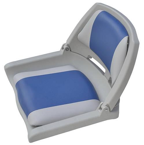 Сиденье для катера, лодки, яхты пластиковое складное 75109GB серо-синее