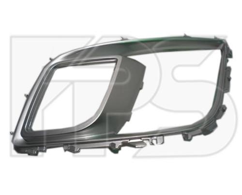 Накладка на решетку в бампер Mazda 6 08-10 Sport левая (FPS) с отв. по