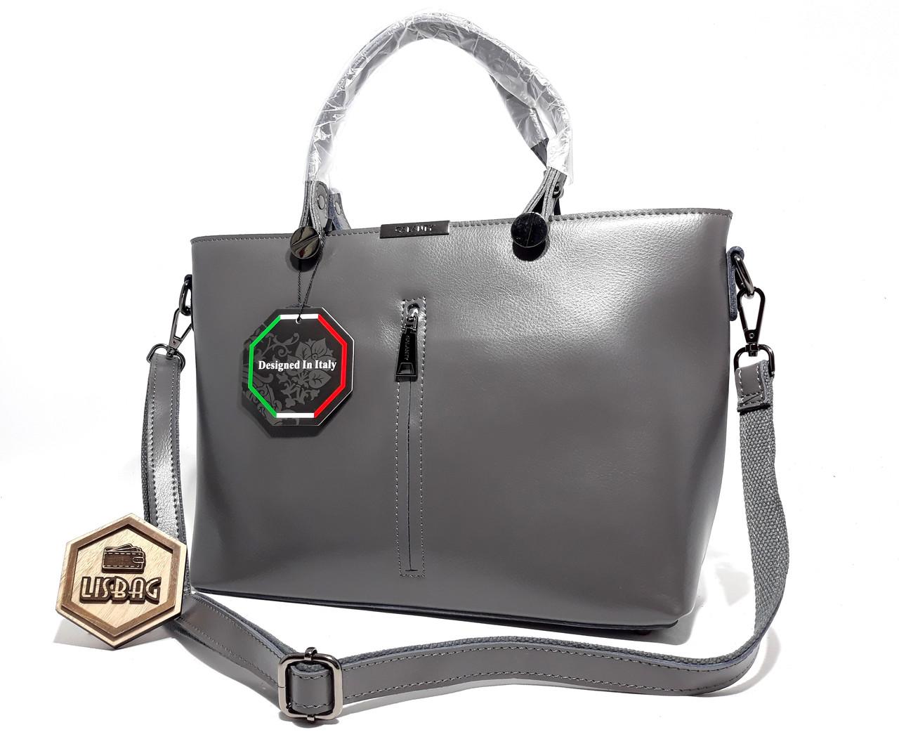 96f12ad187dc Большая стильная кожаная сумка Серая формата А4: продажа, цена в ...