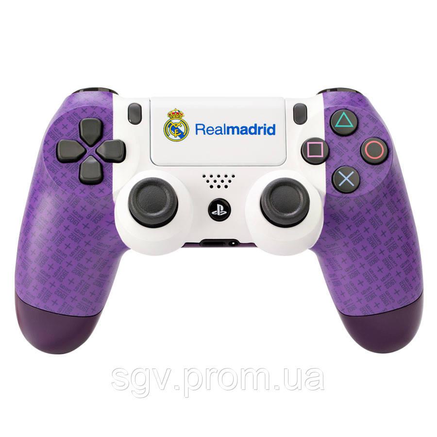Персонализированный геймпад Sony Dualshock v2 Real Madrid (Violet)