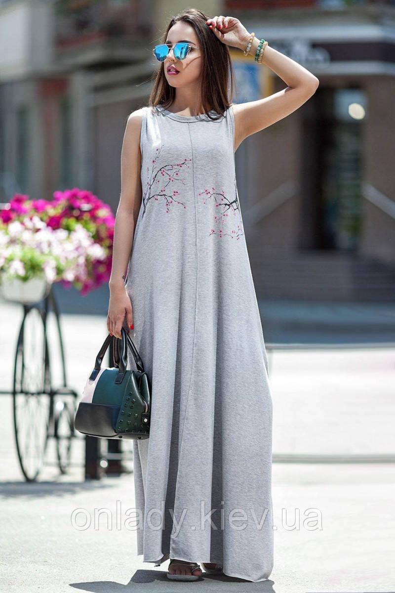 12f6c83b6da8222 Летнее длинное платье с цветами (S/M, M/L), цена 898 грн., купить в ...