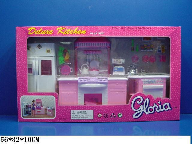 Меблі кухня Gloria 9986GB, газ, плита, мийка, духовка, холодильник, мийка, необхідний посуд, в кор-ке.