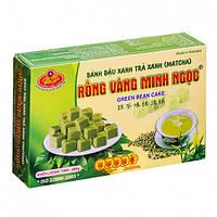 Халва из Маша с зелёным чаем Rong Vang Minh NgocGreen Bean Cake в коробке 280г (Вьетнам)