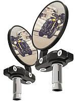 Oxford BarEnd Mirrors - Black Set