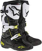 Мотоботы Alpinestars TECH 10 черный белый 9