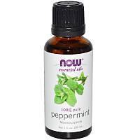 Перечная мята, 30 мл, Эфирные масла, Peppermint, Essential Oils, Now Foods