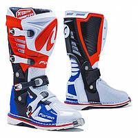 Мотоботинки кроссовые Forma Predator 2.0 белый / красный / синий, 44