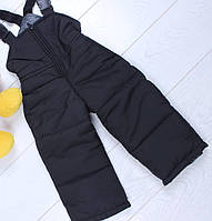 Детские штаны плащевка  оптом 86-116 черные