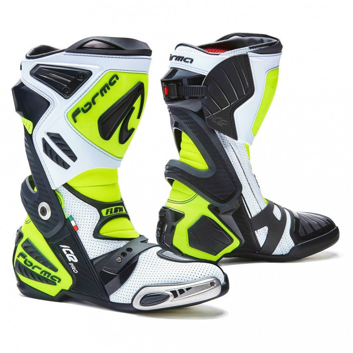Мотоботинки спортивные с перфорацией Forma Ice Pro Flow белый / черный / желтый, 39