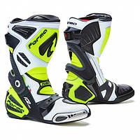 Мотоботинки спортивные с перфорацией Forma Ice Pro Flow белый / черный / желтый, 43