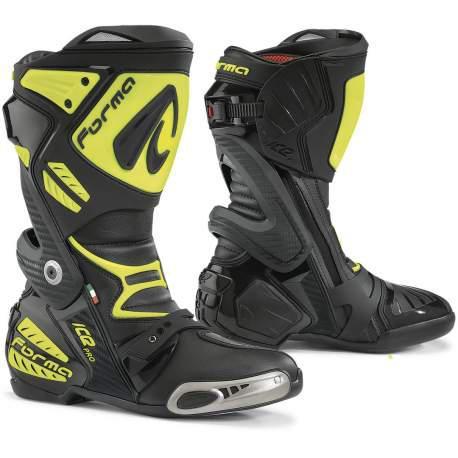 Мотоботинки Forma Ice Pro желтый черный, 42