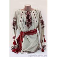 Завораживающая женская льняная вышиванка расшита сложным узором