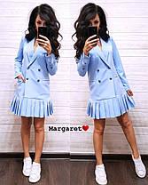 Платье пиджак на пуговицах снизу плиссировка , фото 2