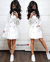 Платье пиджак на пуговицах снизу плиссировка , фото 3
