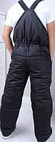 Детские штаны плащевка  оптом 116-140 черные, фото 1