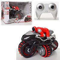 Мотоцикл радиоуправляемый, 4G, 24см, фигурка, свет, звук, на батарейках, в коробке