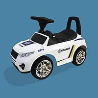 Машина-каталка RR Белый - Полиция