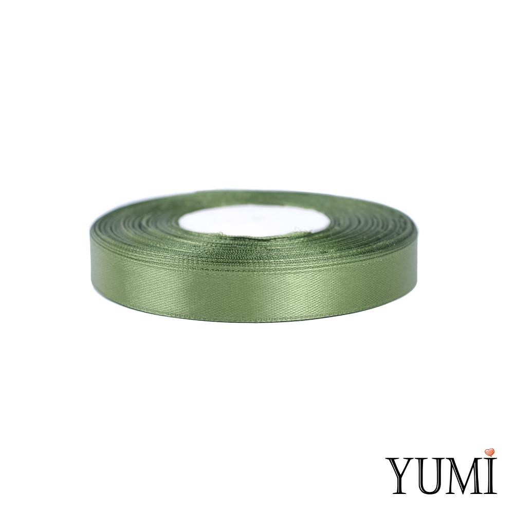Лента (тесьма) атласная (сатин) 12 мм ХАКИ 8082