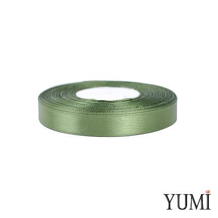 Лента (тесьма) атласная (сатин) 12 мм ХАКИ 8082, фото 2